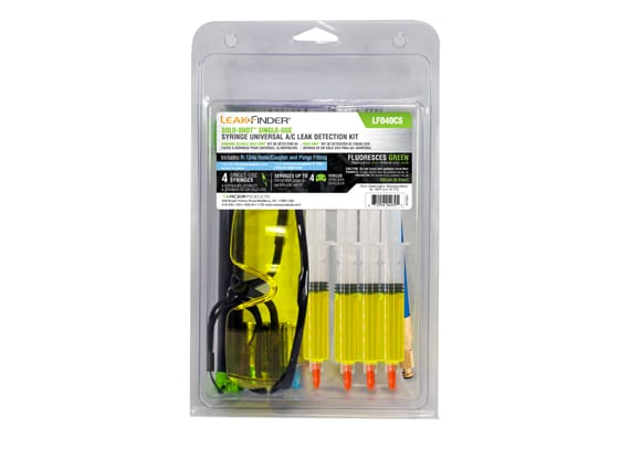SOLO-SHOT Single-Use Syringe Universal A/C Leak Detection Kit