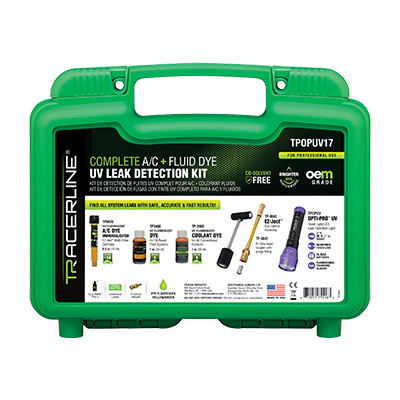TPOP17 Complete A/C and Fluid Dye UV Leak Detection Kit