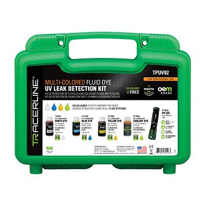 TPUV92 Multi-Colored Fluid Dye UV Leak Detection Kit