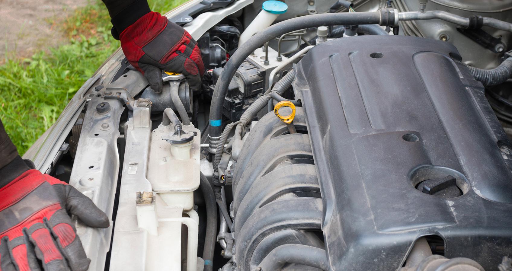 Coolant leak inspection